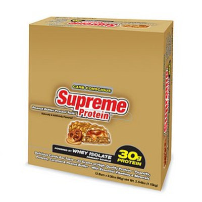 Supreme Protein Carb Conscious Quadruple Layer Protein Bars 12 Pack