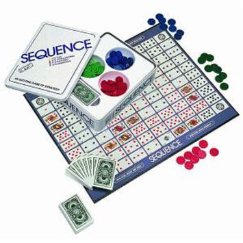 Sequence An Exciting Game of Strategy, in a Tin Container, 1 ea