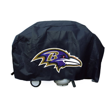 Caseys Baltimore Ravens Deluxe Grill Cover Rico Industries-Tag Express