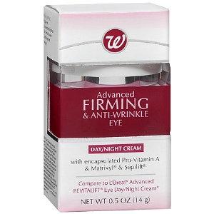 Walgreens Advanced Firming & Anti-Wrinkle Eye Day/Night Cream