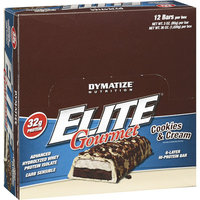 Dymatize Nutrition Elite Gourmet Cookies & Cream Hi-Protein Bars