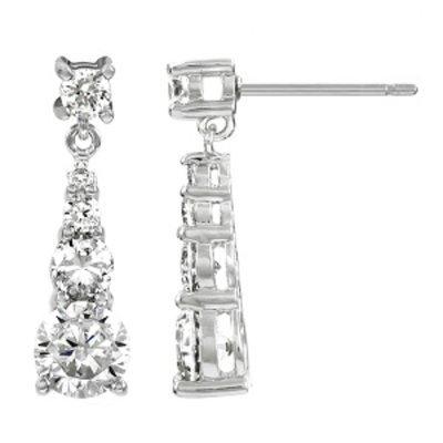 Emitations Eglantine's Graduated CZ Dangle Earrings