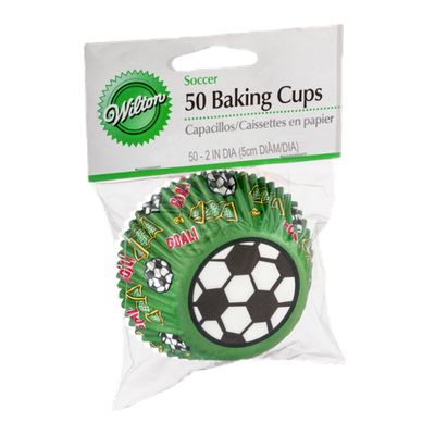 Wilton Baking Cups Soccer - 50 CT