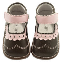 Jack and Lily Infant Girls Saddle Shoes - Brown/Pink 24M