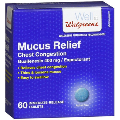 Walgreens Mucus Relief Chest Congestion Immediate-Release Tablets