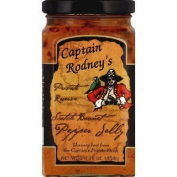 Captain Rodney's Mild Pepper Jelly 16.0 OZ(Pack of 6)