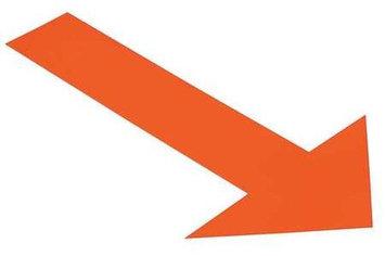 Mighty Line Industrial Floor Tape Markers (Arrow, Orange) [PK/50]. Model: ARROW10O