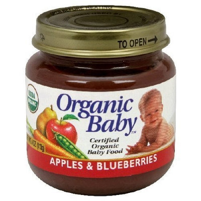 Organic Baby Organic Baby Food, Apples & Blueberries, 4-Ounce Jars (Pack of 24)