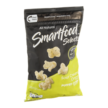Smartfood Selects All Natural Baked Snacks Puffed Corn Sour Cream Onion
