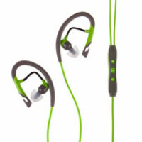 Klipsch Image A5i Sport Earbuds with Mic and Playlist Control  - Green/Gray