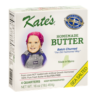 Kate's Homemade Butter Sea Salted - 4 CT