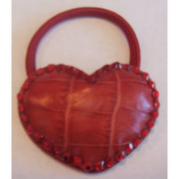 The Beauty Box Swarovski Crystal HEART Ponytail Holder