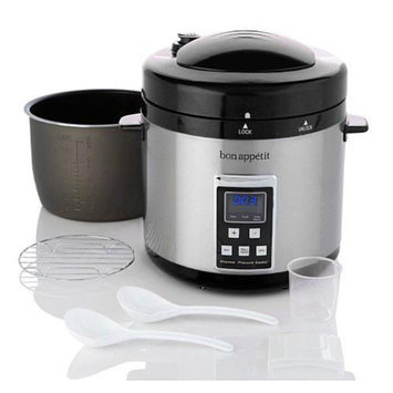 Bon Appetit BAPCR010B 7Qt. Programmable Heavy Duty Pressure Cooker in Black
