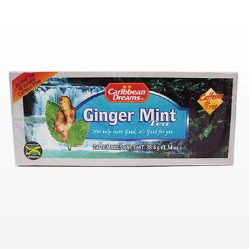 Caribbean Dreams Ginger Mint Tea, 24 tea bags