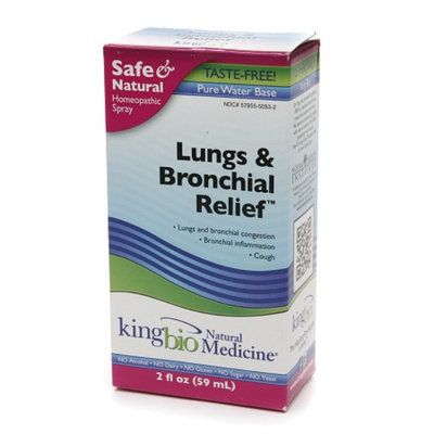 Natural Medicine by King Bio Lungs & Bronchial Relief