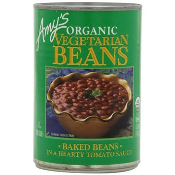 Amy's Organic Vegetarian Beans, Baked Beans in a Hearty Tomato Sauce, 15 Ounce (Pack of 12)