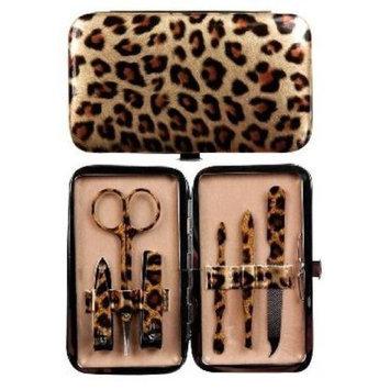 Manual Woodworkers & Weavers Manual Gold Leopard Purse Sized Manicure Set