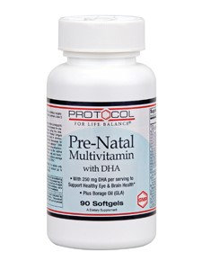 Pre-Natal Multivitamin with DHA 90 Gels by Protocol For Life Balance