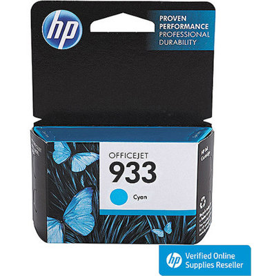 HP 933 Officejet Printer Ink Cartridge - Cyan (CN058AN#140)