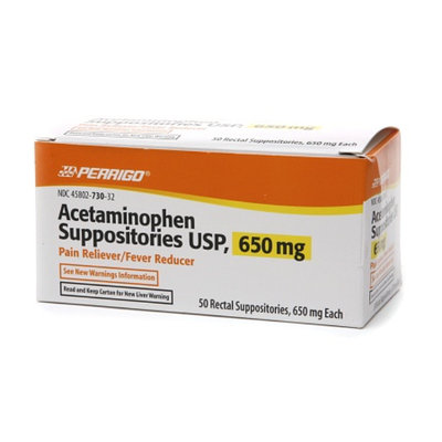 Perrigo Acetaminophen Suppositories USP