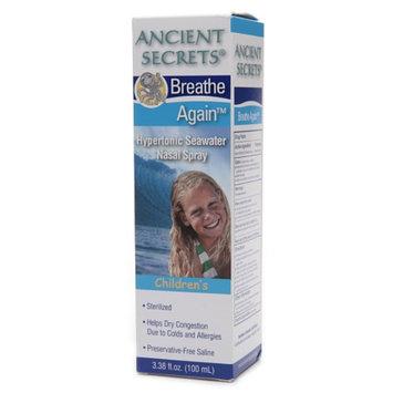 Ancient Secrets Breathe Again Hypertonic Seawater Nasal Spray