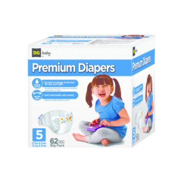 DG Baby  Diapers - Size 5  - 62ct
