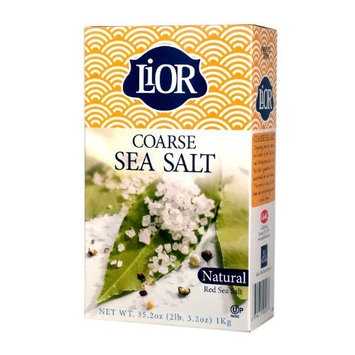 LiOR Coarse Sea Salt Box, 35.2-Ounce Boxes (Pack of 6)