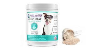 Living Meal Dog Beef Flavor Vital Planet 3.9 oz Powder
