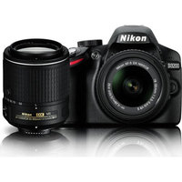 Nikon 24.2 MP CMOS Digital SLR Camera with 18-55mm and 55-200mm VR DX Zoom Lenses Bundle