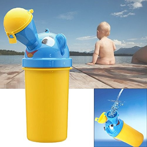Gosear Novelty Portable Baby Child Potty Urinal Toddler Potty Camping Training Car Travel Toilet for Boys Yellow [Boy]