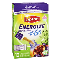 Lipton Energize To Go Blueberry Pomegranate Sugar Free Iced Tea Mix- 10 CT