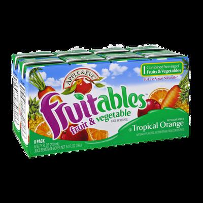 Apple & Eve Fruitables Tropical Orange Fruit & Vegetable Juice Beverage - 8 PK