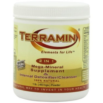 Ion Charged Minerals Ion Charged Terramin Mega-Mineral Supplement & Internal Detoxifier/Cleanser, 1-Pound Powder Jar