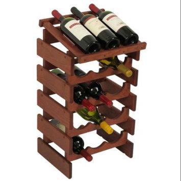 Wooden Mallet WRD34MH 15 Bottle Dakota Wine Rack with Display Top