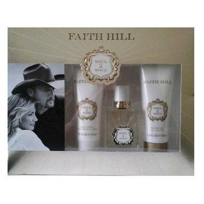 Faith Hill Soul 2 Soul by Faith Hill, 3 Piece Gift Set for Women