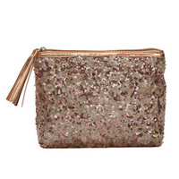 Stephanie Johnson Beverly Hills Collection, Alex Sparkle Cosmetic Case, Rose Gold, 1 ea