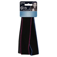 Goody Products Inc. Ouchless Fabric Headwrap, Bright stitched edge, 3 CT