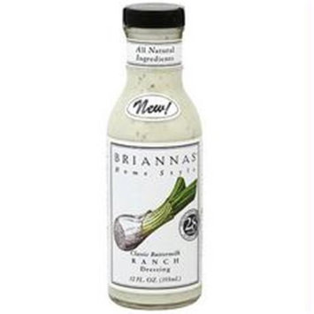 Briannas B66490 Briannas Homestyle Dressingbuttermilk Ranch -6x12oz