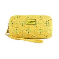 Jacki Design ABC38016YL Cosmopolitan Cosmetic Bag With Wristlet Yellow