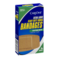 CareOne Heavy Duty Fabric Bandages Extra Large - 10 CT