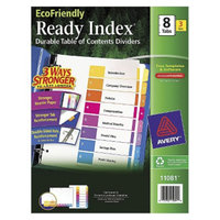 Avery EcoFriendly Ready Index Table of Contents Divider, 1-8, Letter-