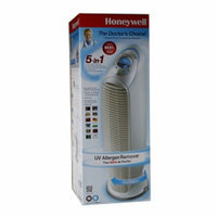 Honeywell True HEPA 5-in-1 Tower Air Purifier, White, 1 ea