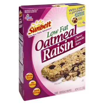Sunbelt Low Fat Oatmeal Raisin Chewy Granola Bars