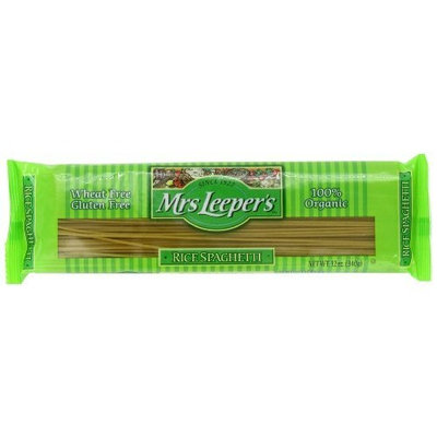 Mrs Leepers Mrs. Leeper's Pasta Organic, Rice Spaghetti, 12-Ounce Bags (Pack of 12)