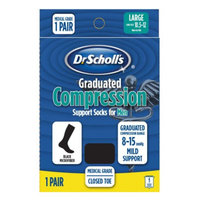 Dr. Scholl's Graduated Compression Support Socks for Men Large