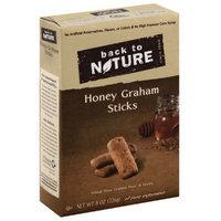 Back to Nature Honey Graham Sticks, 8 oz, (Pack of 6)