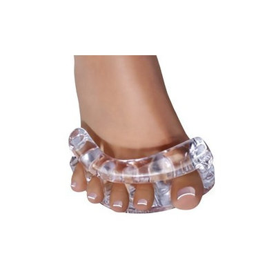 Original YogaToes - Medium Clear: Toe Stretcher & Separator. Fight Bunions, Hammer Toes, Foot Pain & More!