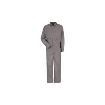 BULWARK CLD4GY FlameResistant Coverall, Gray,52 In