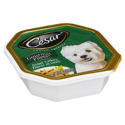 Cesar Gourmet Filets Roast Turkey Canine Cuisine