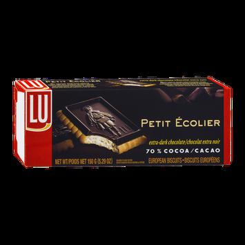 LU Ecolier Extra-Dark Chocolate European Biscuits